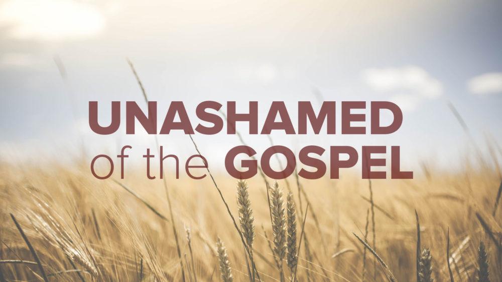 Unashamed of the Gospel Image